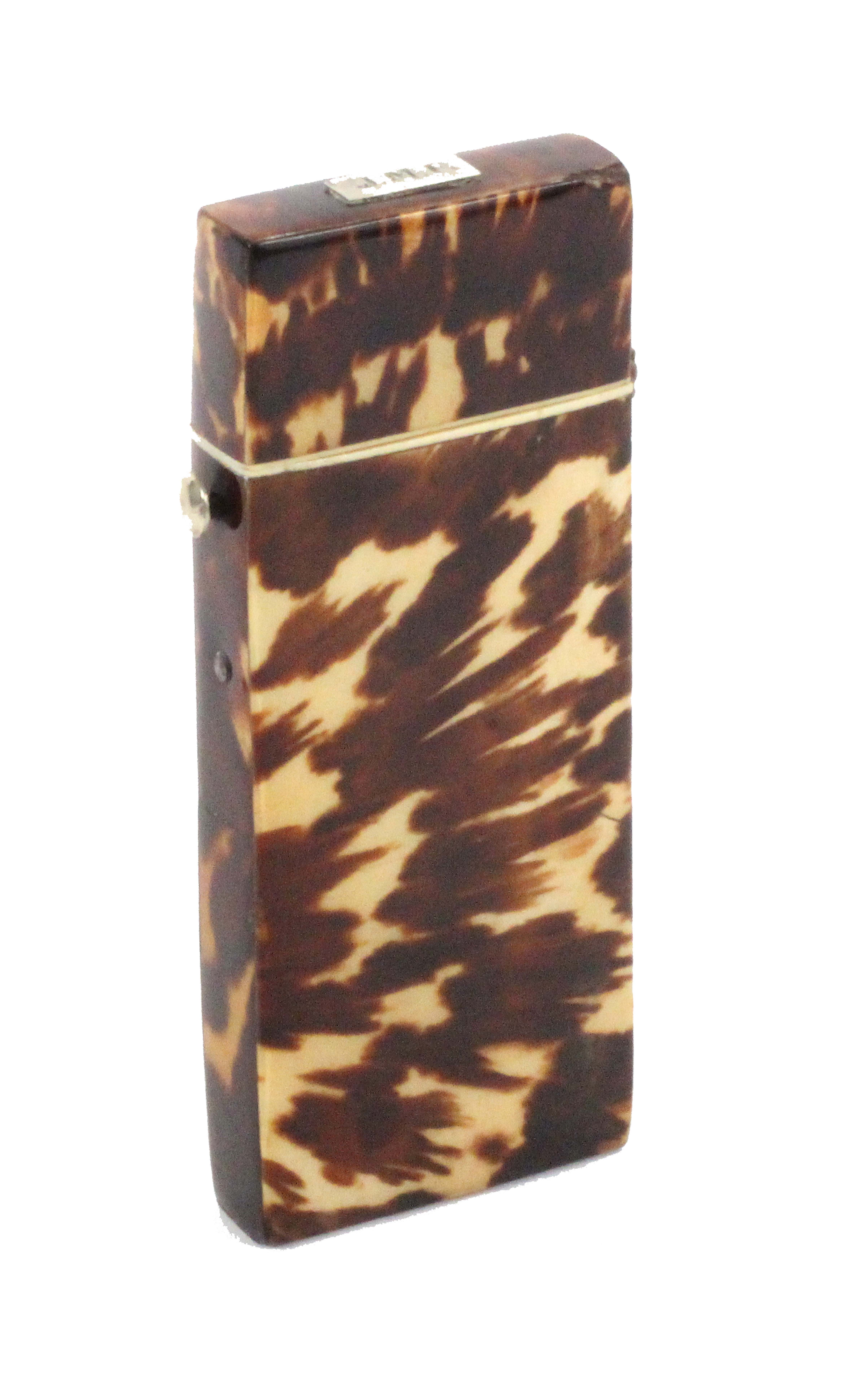 A tortoiseshell cased crochet set, the case of rectangular form the hinged cover with a silver - Image 4 of 4