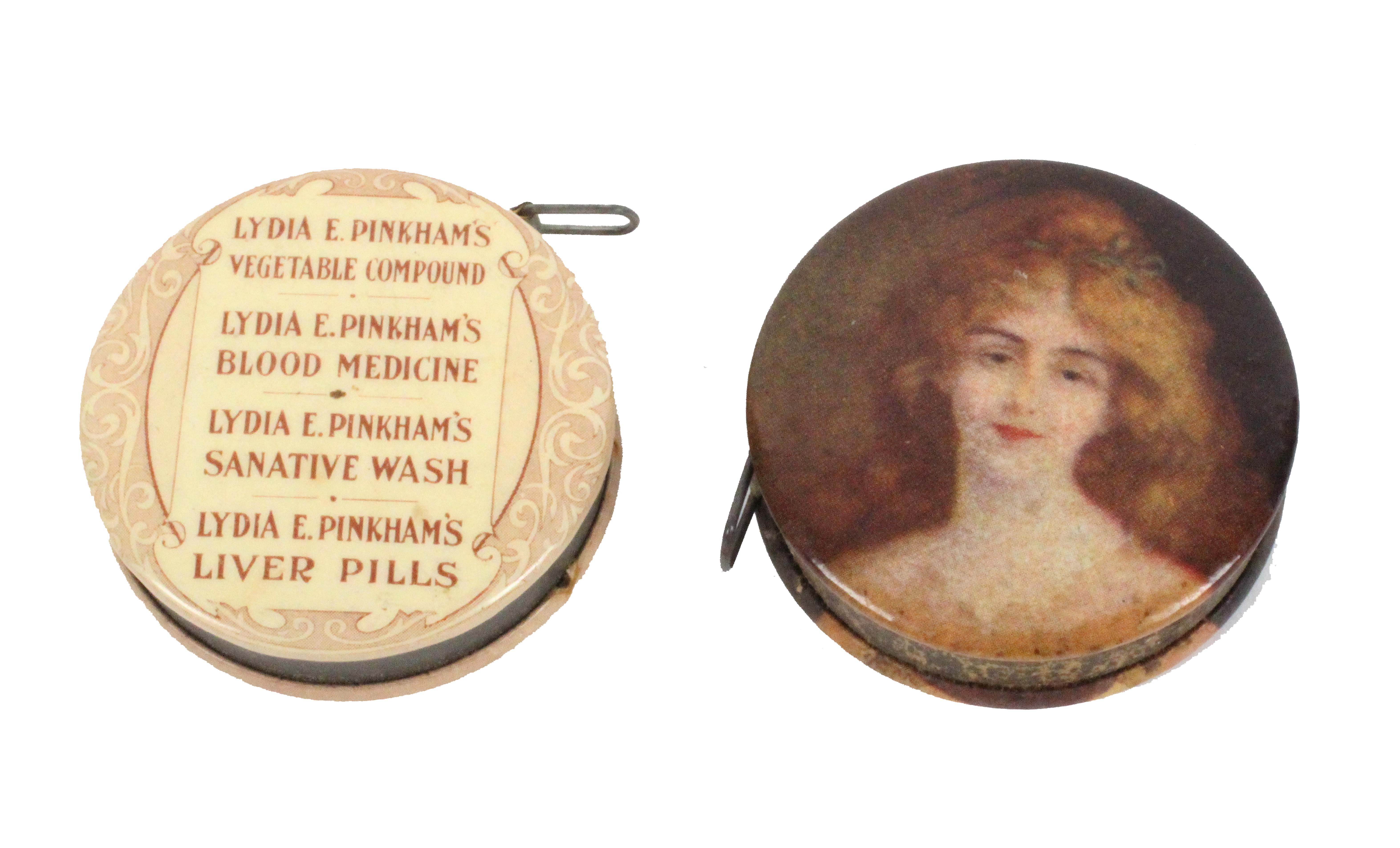 Four tape measures, comprising a circular retractable example advertising Lydia E. Pinkmans - Image 2 of 3