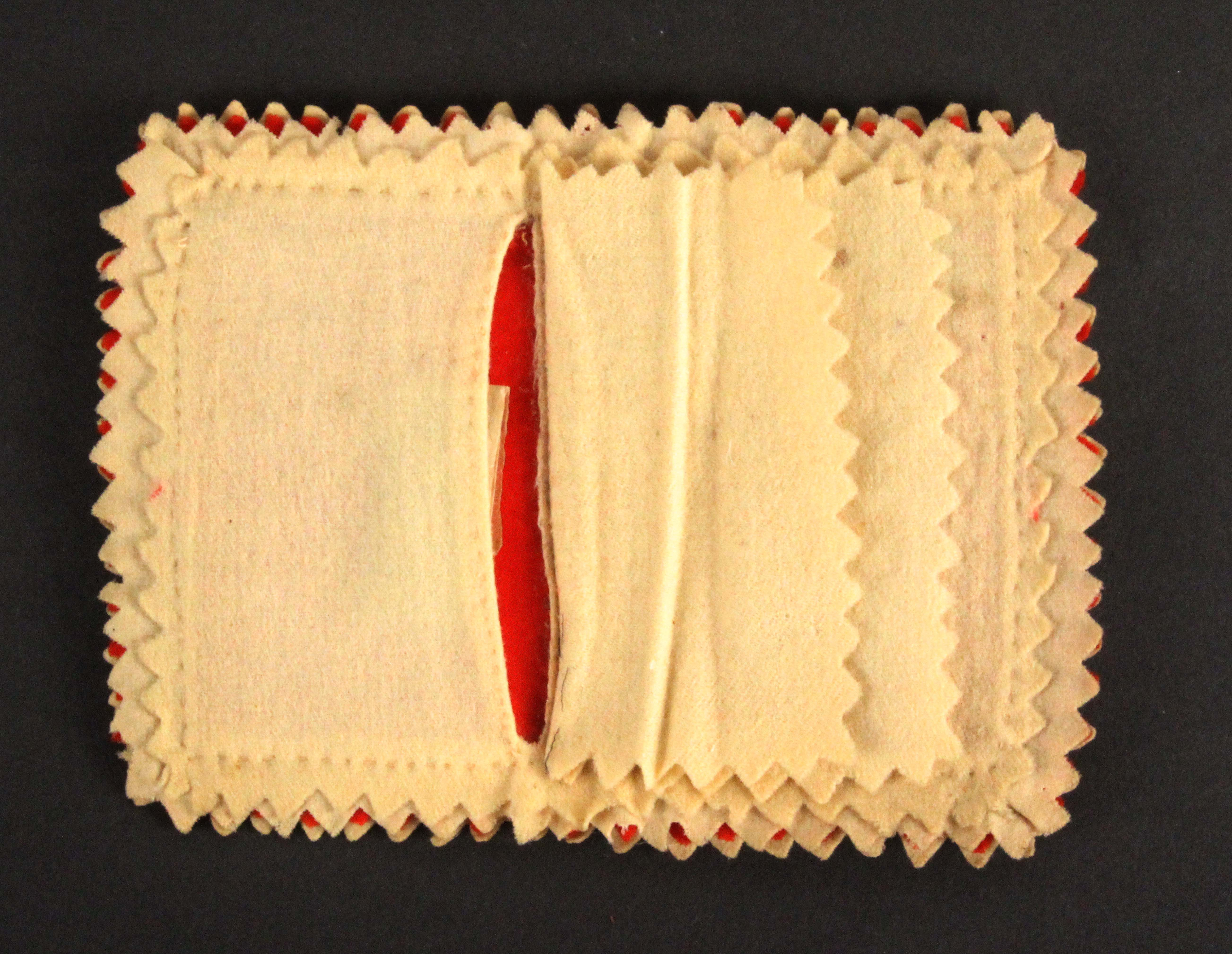 A 19th Century French needle book of large size, titled to the spine 'St Brieuc', the felt covers - Image 3 of 3
