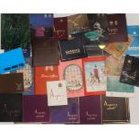 Luxury catalogues, 1960's and later, together with boxes, comprising Asprey (19), Garrard (4),