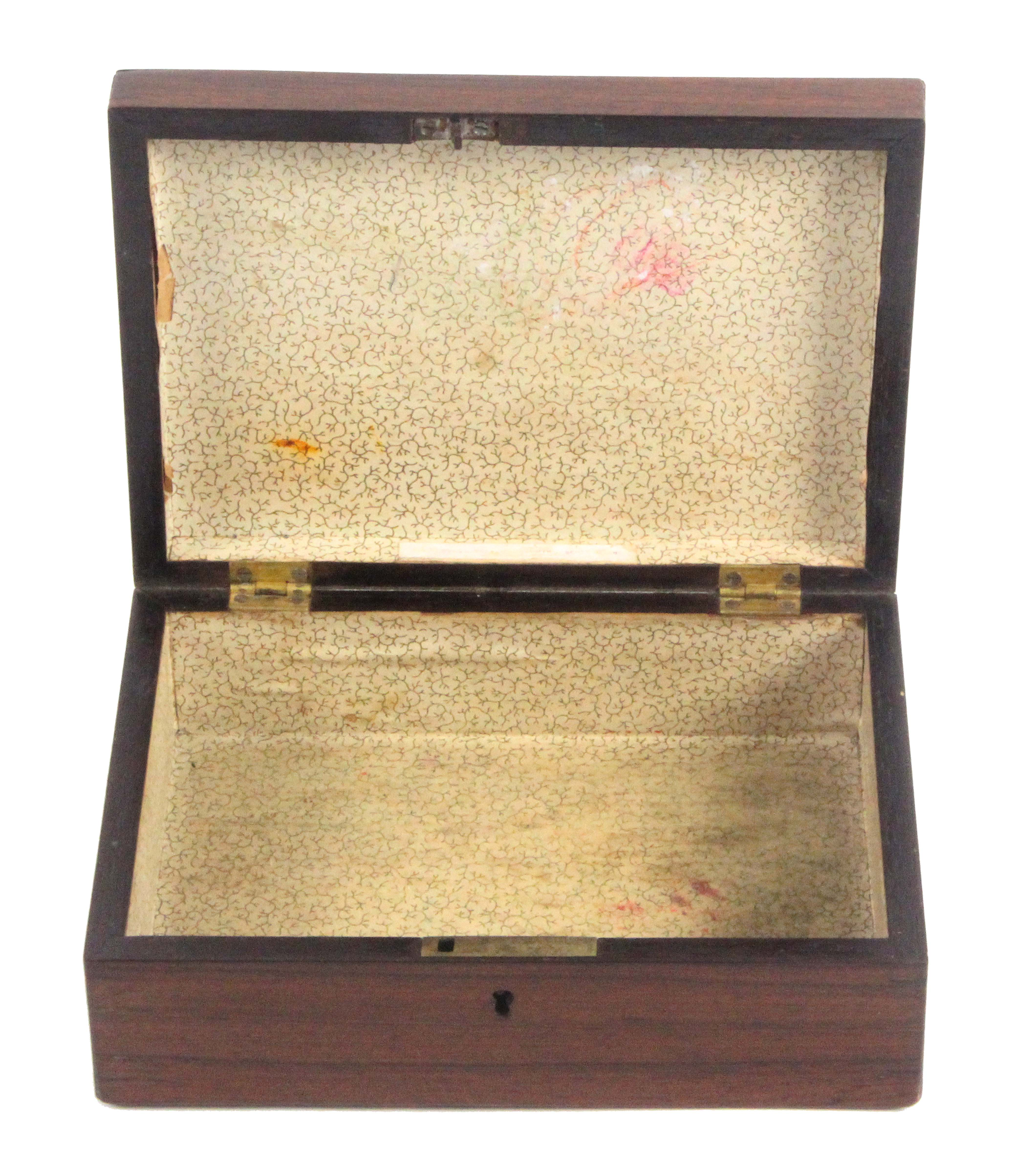 A Tunbridge ware rosewood rectangular box, the lid with a partly coloured photographic view labelled - Image 2 of 3