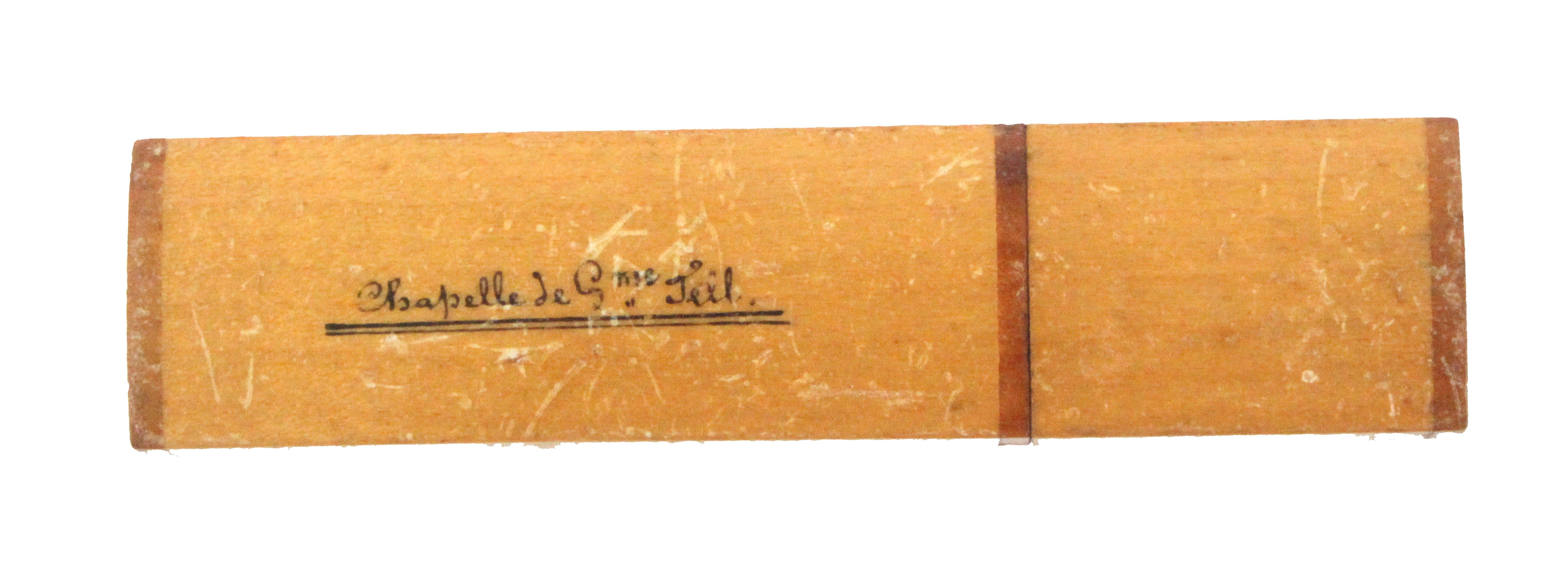 Four needle cases, comprising a rectangular example decorated in coloured glass beads in a trellis - Image 2 of 2