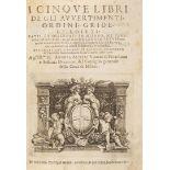 I Cinque libri de gli avvertimenti, ordini, gride, et editti: fatti, et osservati in Milano.