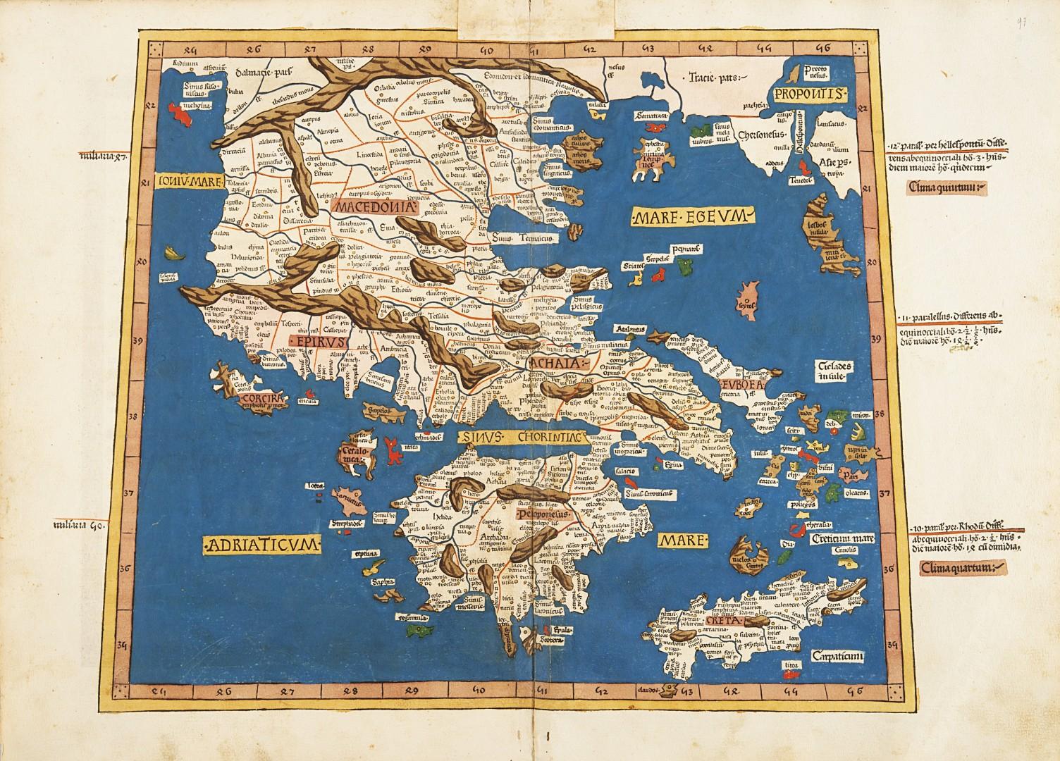 Tolomeo, Claudio Cosmographia. - Image 2 of 4