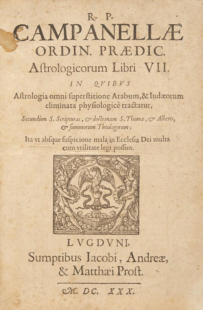 Campanella, Tommaso Astrologicorum libri VII.