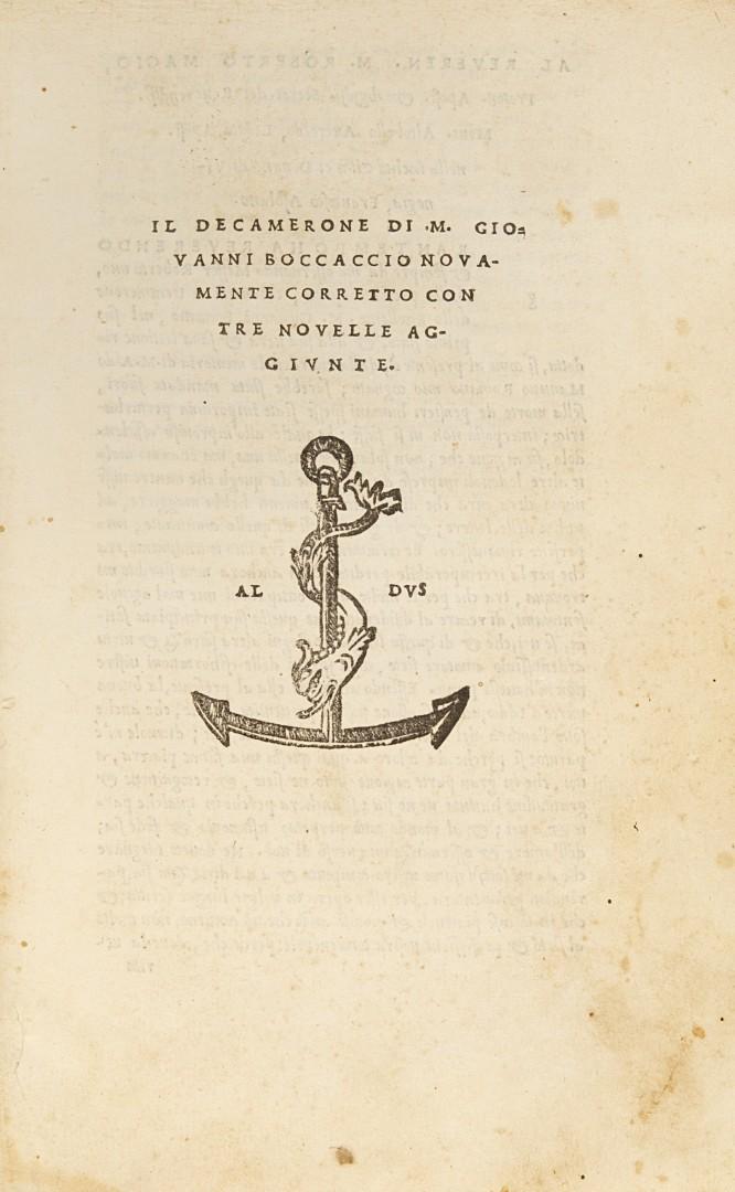 Boccaccio, Giovanni Il Decamerone.