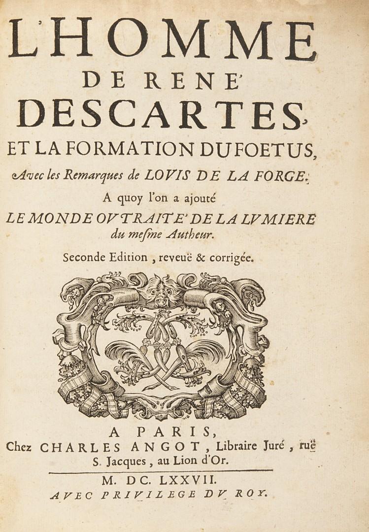 Descartes, René L'homme de René Descartes, et la formation du foetus.