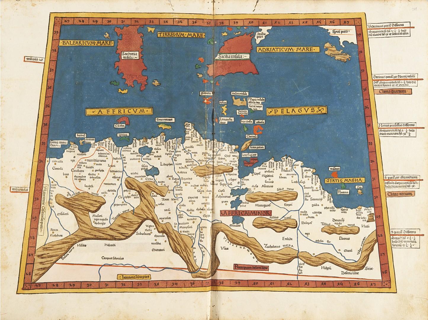 Tolomeo, Claudio Cosmographia. - Image 3 of 4