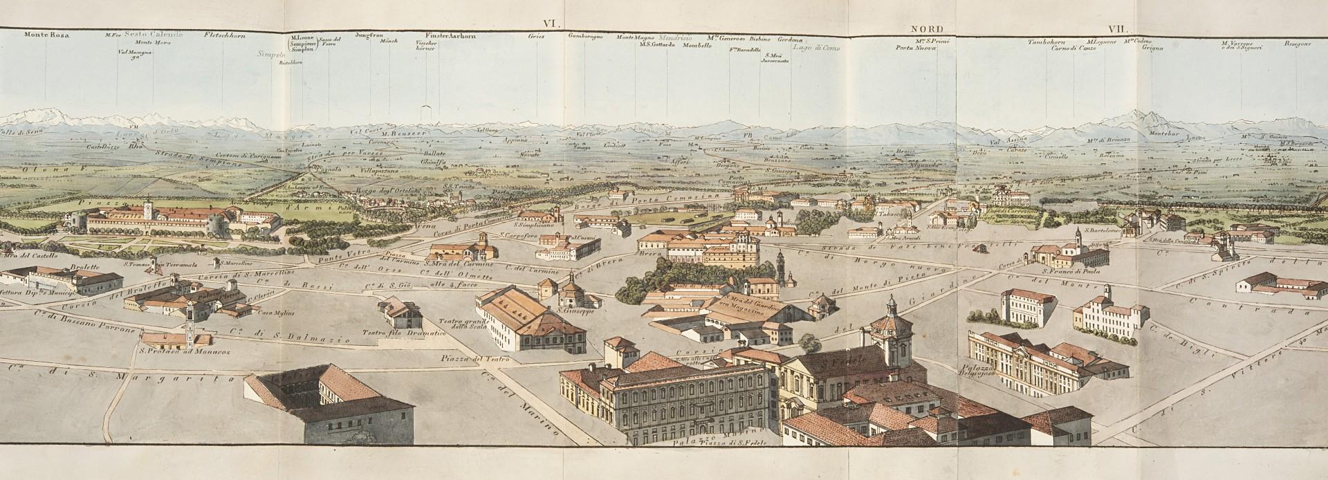 Keller, Heinrich Panorame de Milan. Panorama von Mailand. - Image 2 of 3