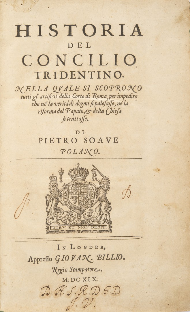 Sarpi, Paolo Historia del Concilio Tridentino.