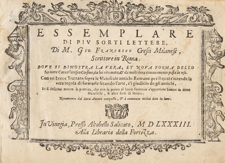 Cresci, Giovanni Francesco Nuovo metodo per bene scrivere.