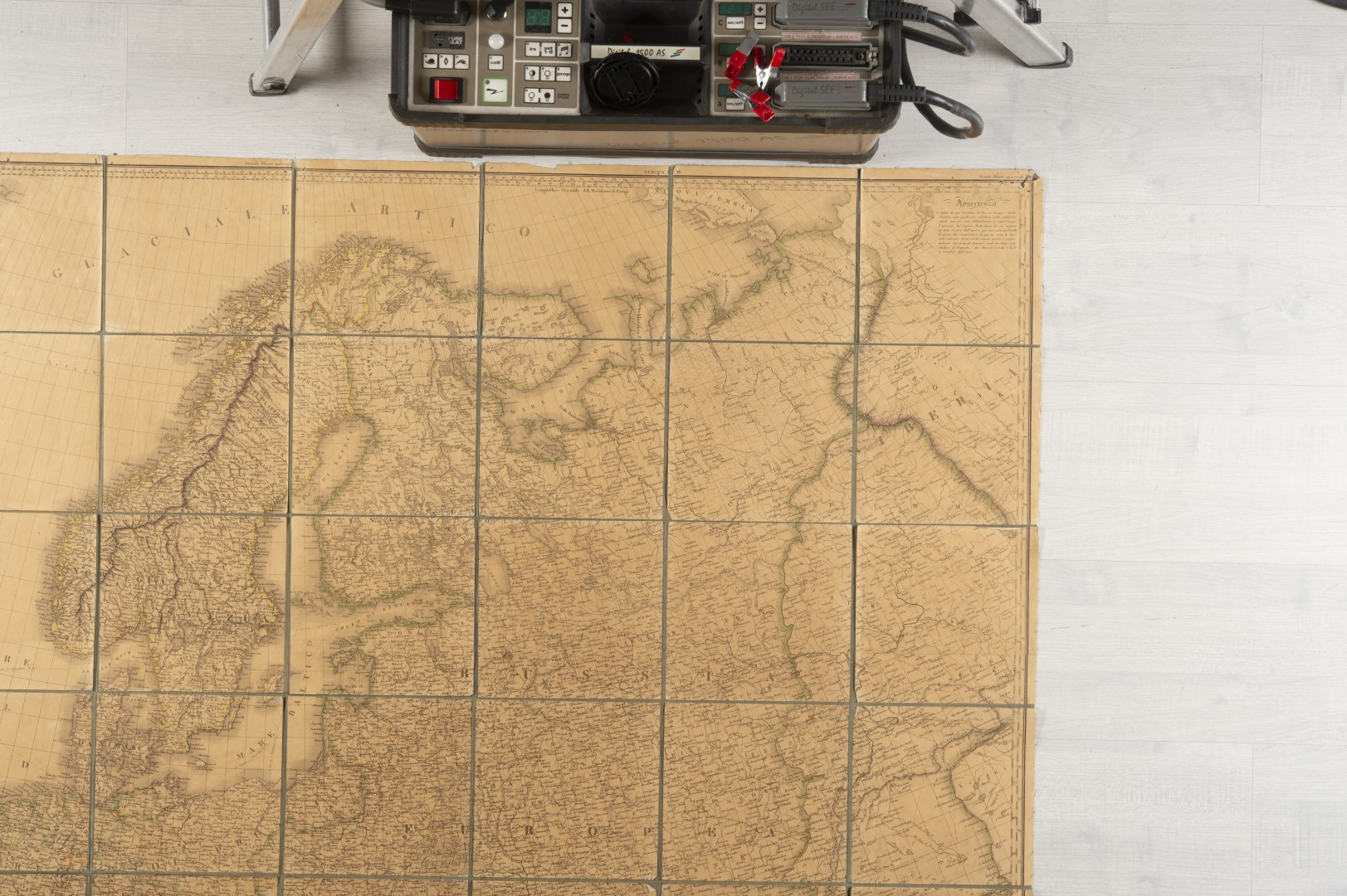 Stucchi, Stanislao Carta geografica statistica e stradale d'Europa. - Image 4 of 8