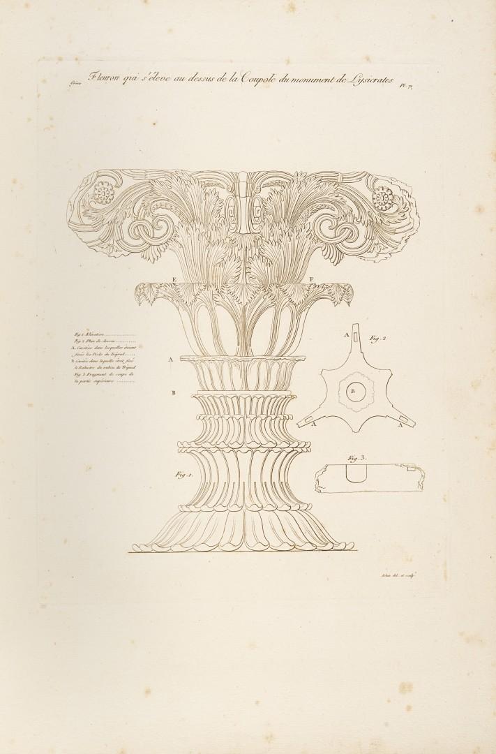 Legrand, Jacques Guillaume Monumens de la Grece, ou Collection des chefs-d'oeuvre d'architecture, de