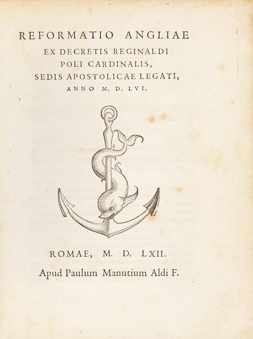 Pole, Reginald Reformatio Angliae.