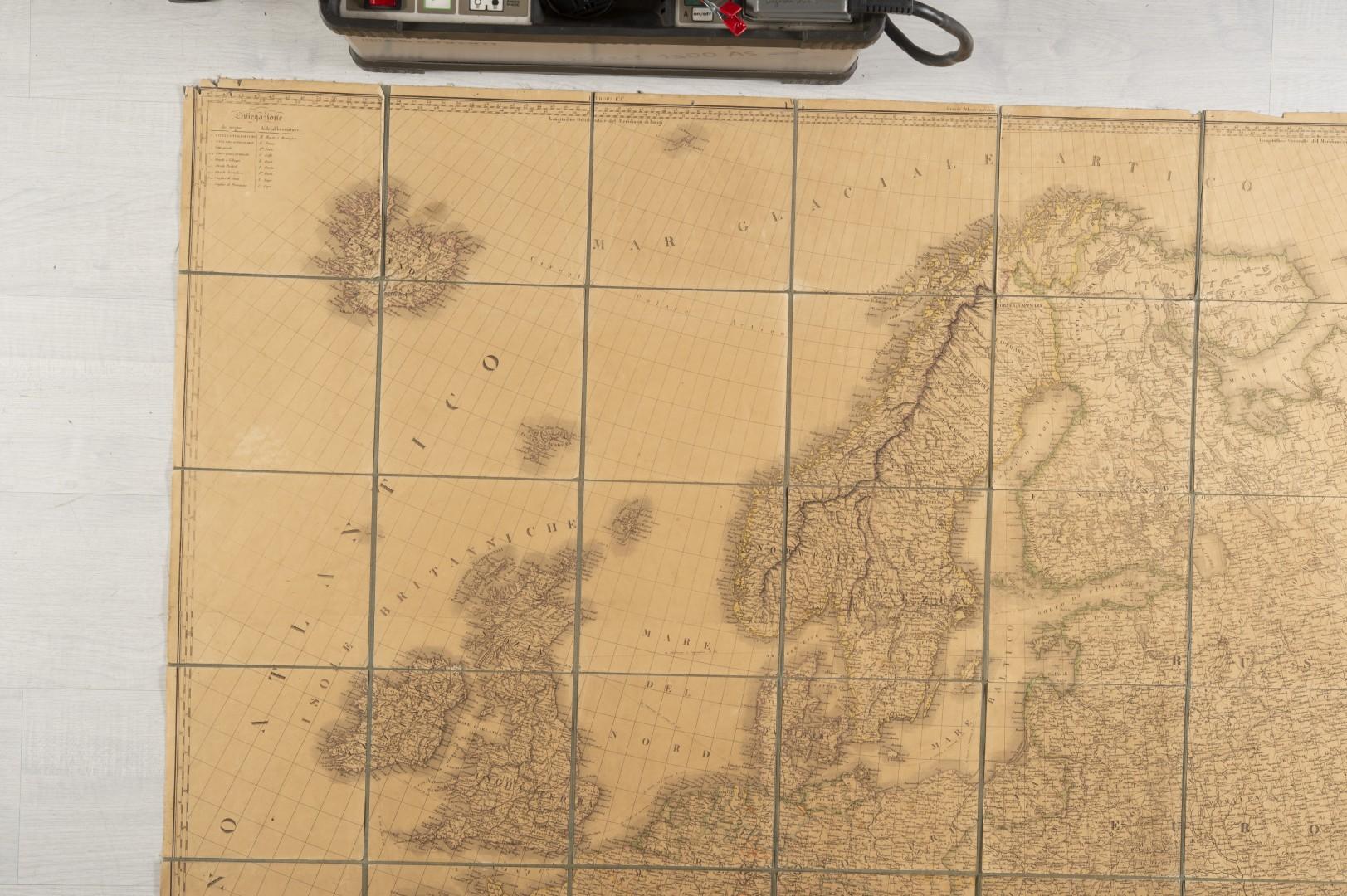 Stucchi, Stanislao Carta geografica statistica e stradale d'Europa. - Image 2 of 8