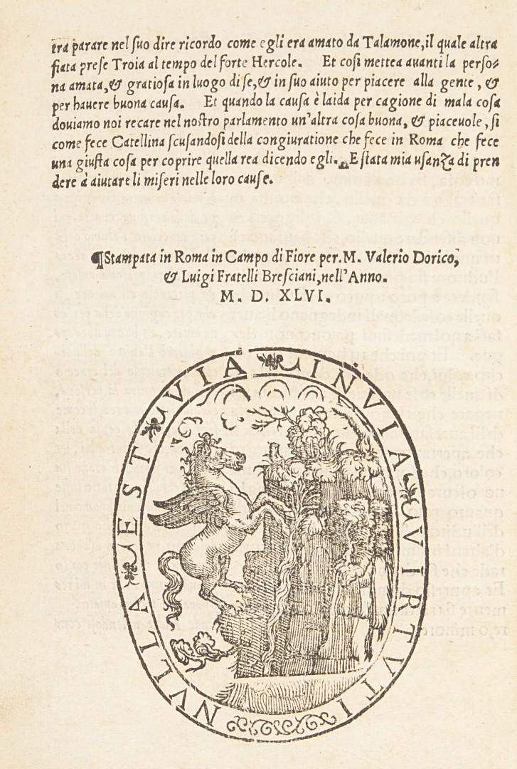 Latini, Brunetto Retorica di ser Brunetto Latini in volgar fiorentino.