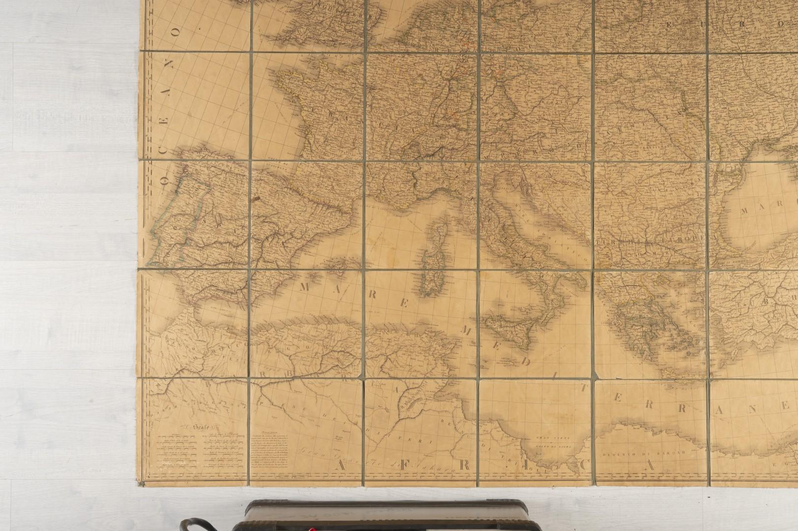 Stucchi, Stanislao Carta geografica statistica e stradale d'Europa. - Image 7 of 8