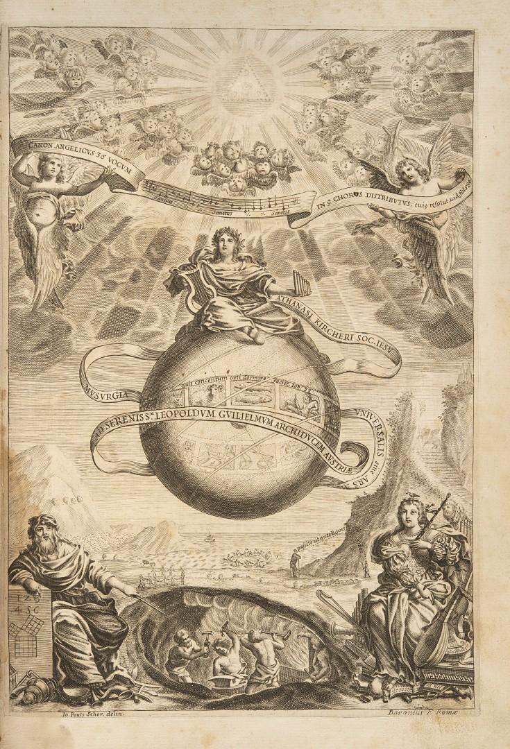 Kircher, Athanasius Musurgia universalis sive ars magna consoni et dissoni in X libros digesta.