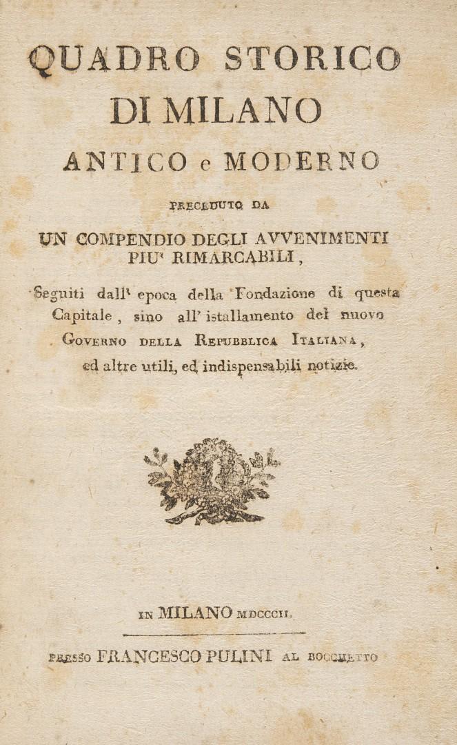 Deliesques, Gaetano Quadro storico di Milano antico e moderno.