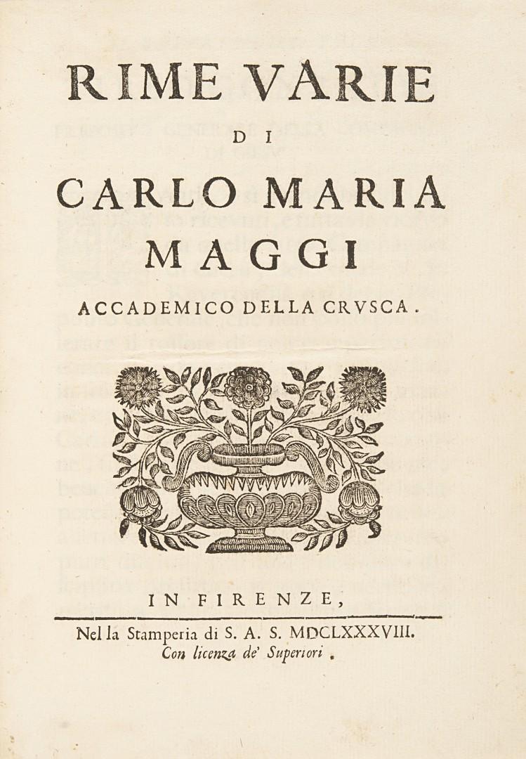 Maggi, Carlo Maria Rime varie.