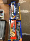Six Corgi commercial vehicles, Die Cast models Super Haulers etc.