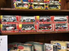 Eight Polistil 1:25 scale 'Decals For You' Die Cast cars, boxed