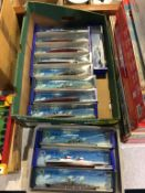 Twelve boxed 1:1200 Minic Ships by Hornby Die Cast models