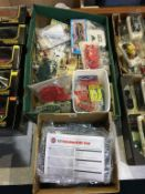 Two boxes of model kits, Airfix, Novo etc.