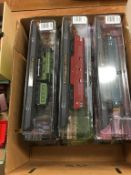 Nine boxed 'Amer Com' model trains