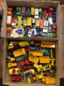 Two trays of Die Cast vehicles etc.