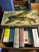 A quantity of Airfix and Revell model kits
