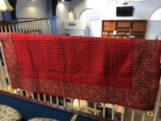 Paisley quilt, 218cm x 174cm approx.