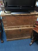 Two pine chests