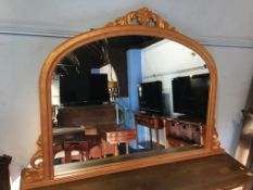 Gilded pine over mantle mirror