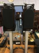 Pair of Monitor audio gold 100 speakers and stands - Please note that this item has not been