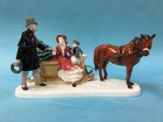 Royal Doulton figure group 'Glad Tidings', HN 5130, boxed