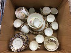 Two part Edwardian tea sets