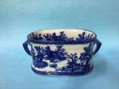 Blue and white reproduction bowl