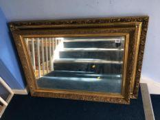 Two gilt framed mirrors