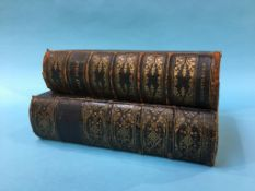Two leather bound family Bibles