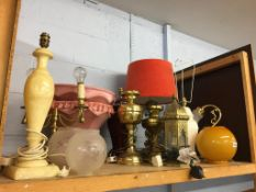 Quantity of table lamps