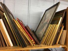 Large quantity of framed prints