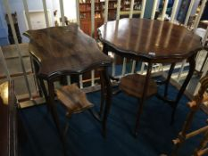 Two Edwardian occasional tables