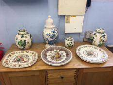Collection of Masons 'Ironstone' china, including ginger jars etc. (9)