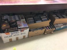 Large quantity of CDs and DVDs