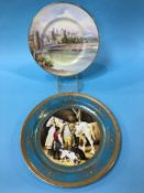 Two Minton hand painted plates by Mark Wood and Arthur Holland