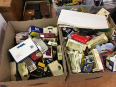 Quantity of Die Cast cars and boxes
