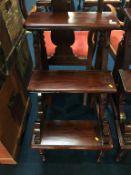 Set of mahogany library steps