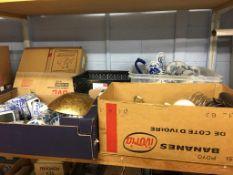 Shelf of assorted including china etc.