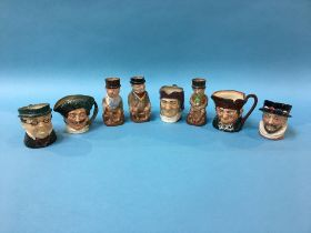 Eight small Royal Doulton Toby jugs